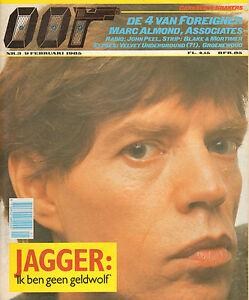 MAGAZINE-OOR-1985-nr-03-MICK-JAGGER-JOHN-PEEL-FOREIGNER-MARC-ALMOND