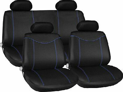 BLACK BLUE CAR SEAT COVERS FOR PEUGEOT 306 307 308 309