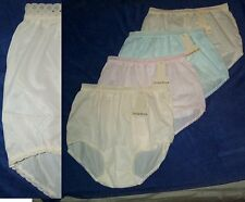 4 Pair Size 6 Pastel EMBOSSOLON Nylon HIP HUGGER Panties  USA Made