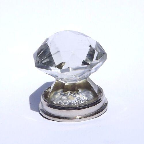Clear cut bout pointu chrome Choix de 4 tailles-Tiroir Placard En Verre Bouton Porte pull