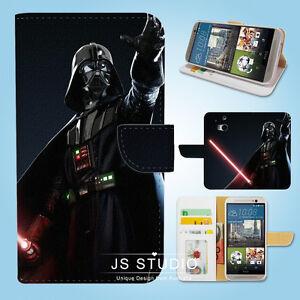 HTC-One-M7-M8-M9-Flip-Wallet-Case-Cover-Star-Wars-Darth-Vader-W051
