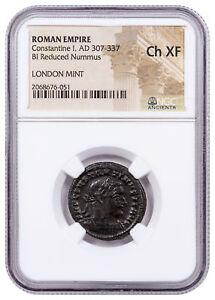 Roman-Empire-Billon-Nummus-of-Constantine-I-London-Mint-NGC-Ch-XF-SKU52267