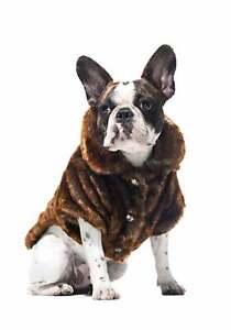 Frontgate-faux-fur-pet-coat-size-XLarge-channeled-mink