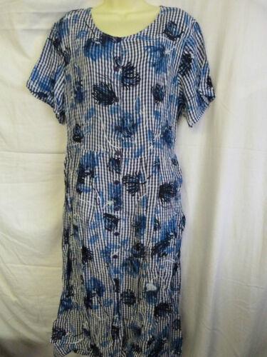 NEW BNWOT LADIES BERKERTEX NAVY BLUE FLORAL SCOOP NECK BUTTON FRONT DRESS