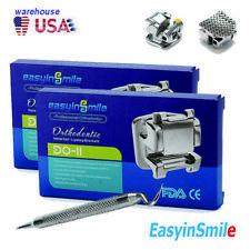 2 Boxes Dental Orthodontic Brackets Self Ligating Roth Mbt Hooks 022 Metal