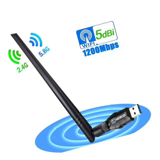 Anewkodi USB Network Adapters Wireless 1200mbps WiFi 3 0 Dual Band for  Support