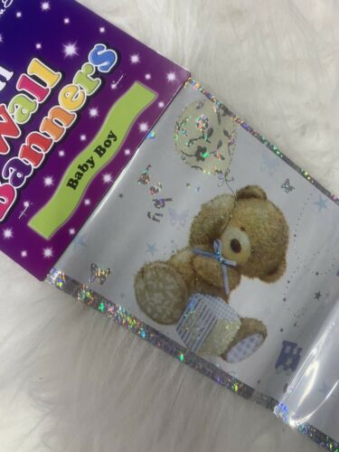 Baby Shower 9ft Holographic Banner Decorations It's A Boy New Arrival