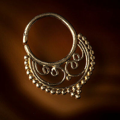 Brass Septum Ring for Pierced Nose 1mm 18g & 1.6mm 14g Available (Code 29)