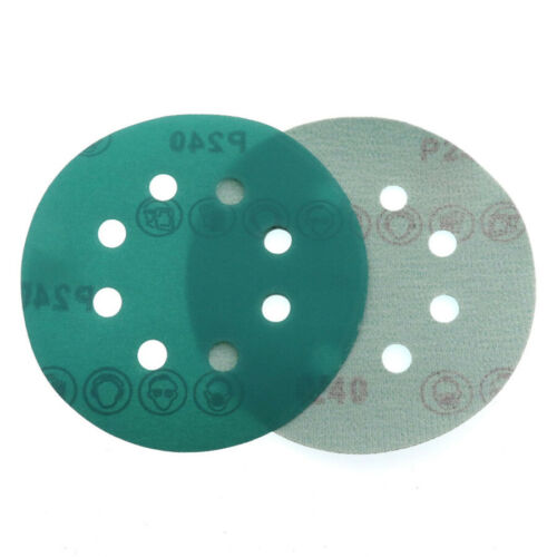 "5/"" 125mm Polyester Film Sandpaper Wet Dry 60~2000Grit Sanding Disc Polishing Pad"