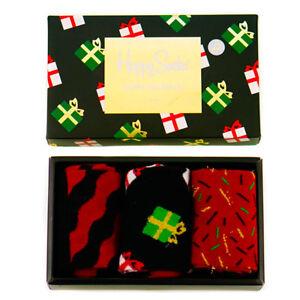 Weihnachten-Happy-Socken-x-3-Pack-in-musikalischen-Geschenkbox-7-5-11-5