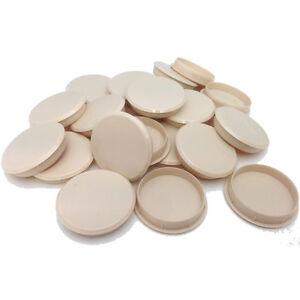 35mm TEAK PLASTIC HINGE HOLE COVER CAPS FOR KITCHEN CABINET CUPBOARD DOORS