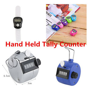 Hand-Held-Tally-Counter-Manual-Counting-4-Digit-Number-Golf-Clicker-NEW-FNM