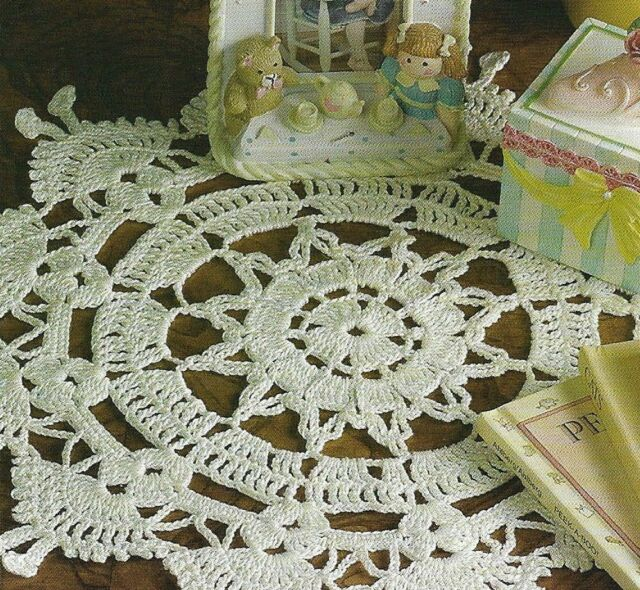 Chunky Crochet Doily Pattern In Two Sizes Manual Guide
