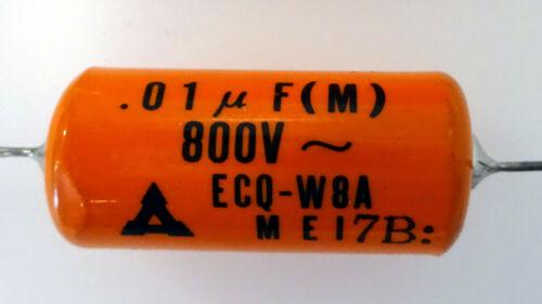 4x  elko Kondensator  0,01µF 800V • 0,01uF 800V  • Ø13mm 30mm lang •  06-03-08