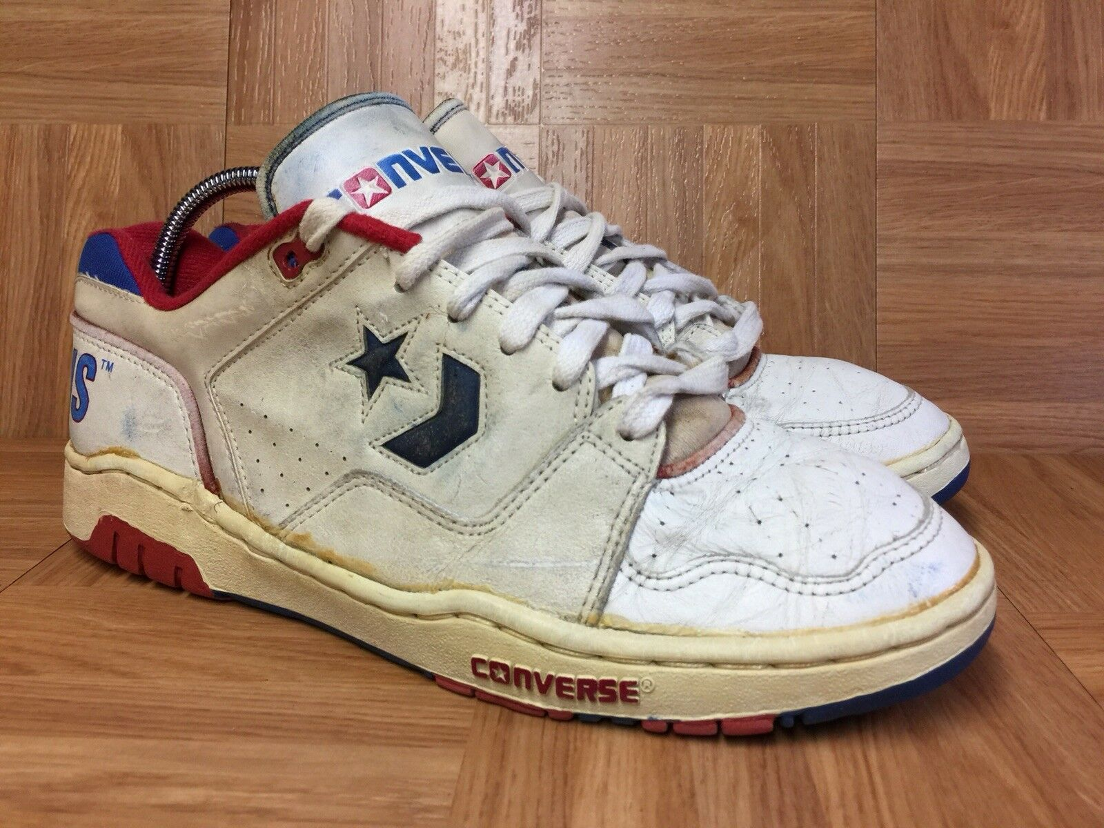 Vintage Converse All All All Star Player Basketball scarpe 9.5 1980's Detroit Pistons 7f350b