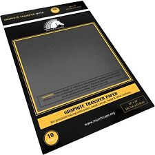 "Graphite Transfer Tracing Carbon Paper - 10 Sheets - 18"" x 24"" - MyArtscape (Bla"