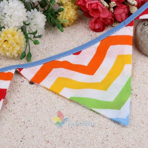 Color/&White Lace Banner Bunting Flags Party Birthday Wedding Decor Baby Ceremony