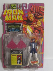 Toy-Biz-Marvel-Comics-Iron-Man-Spider-Women-5-034-Action-Figure