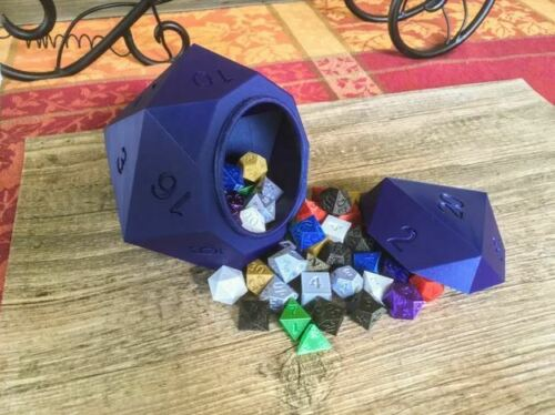 D20 Dice Box Container Storage DnD