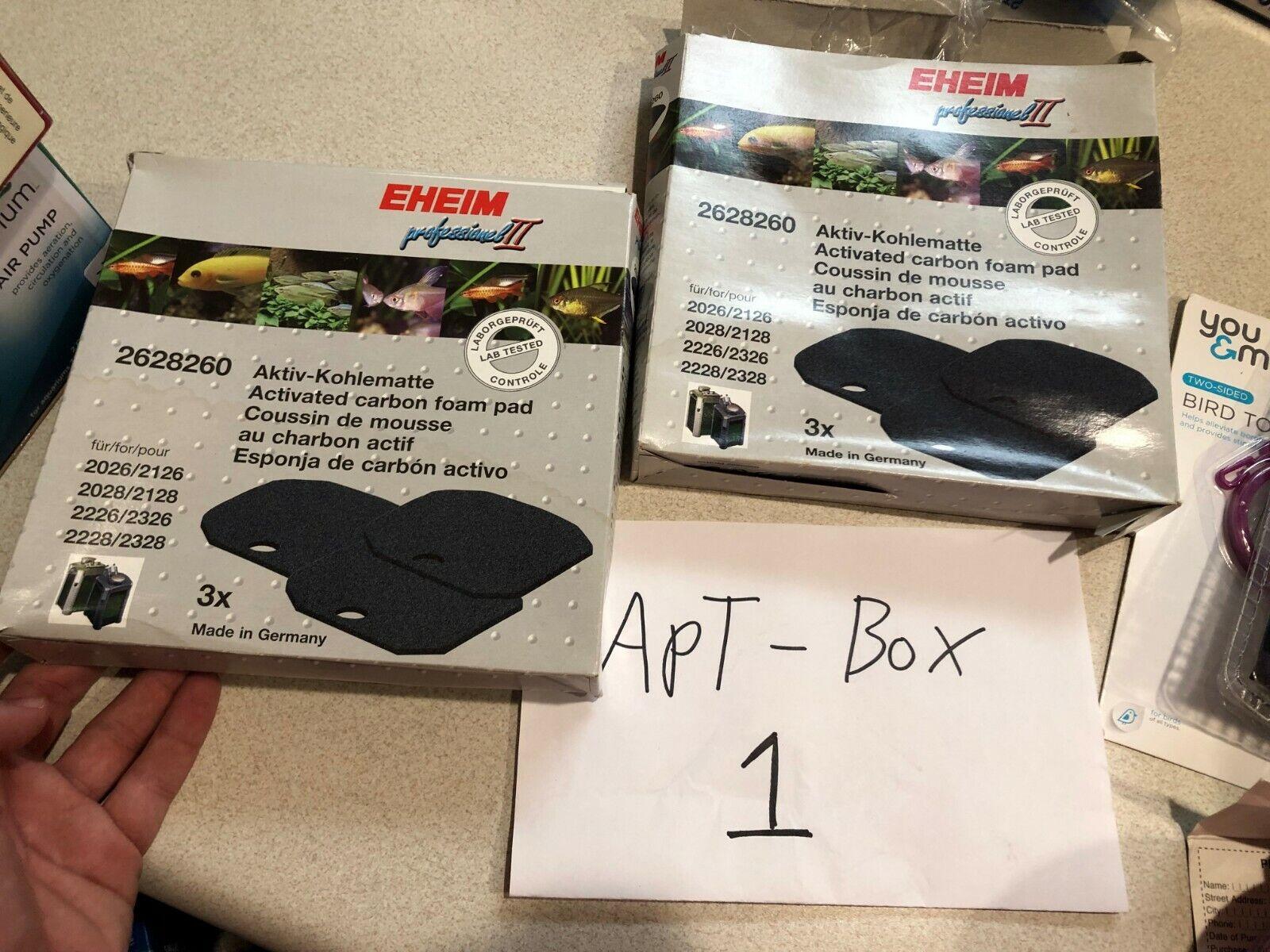 (2) Eheim Pro 2 2226 2026 & 2228 2028 Carbon Filter Pad 2628260 Professional II