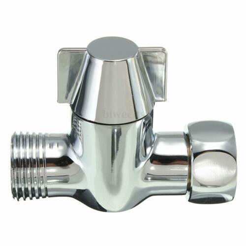 T-adapter G1//2/'/' 3-Way Diverter Valve Brass Chrome FitShower Head Arm Mounted