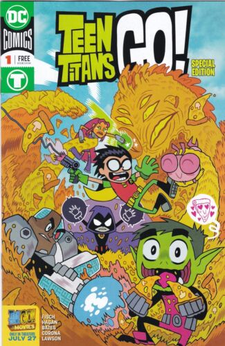 Movie #1 NMINT Special Edition Comic PROMO SDCC 2018 EXCLUSIVE TEEN TITANS GO