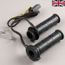 "7/8"" 22mm Motorcycle Electric Adjustable Molded Heated Grips Hot Warm Handlebar"
