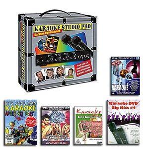 KARAOKE-KOMPLETT-ANLAGE-2-MIKROFONE-5-KARAOKE-PARTY-DVDs