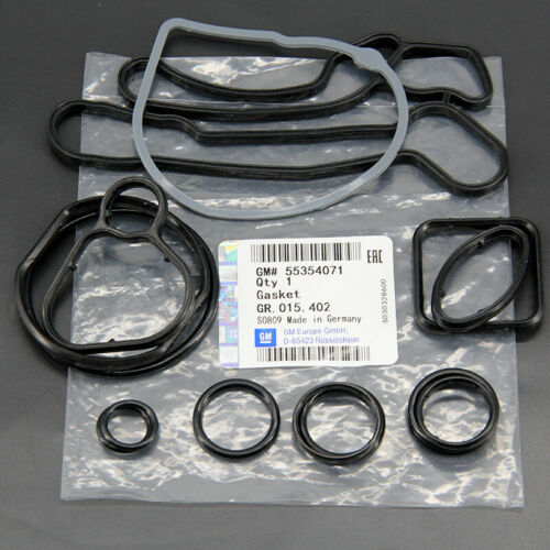 Full 15 PCS Engine Oil Cooler Gasket Seal for Chevrolet Cruze Aveo Sonic