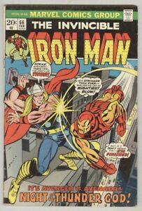 Iron-Man-66-February-1974-VG-Thor-fight