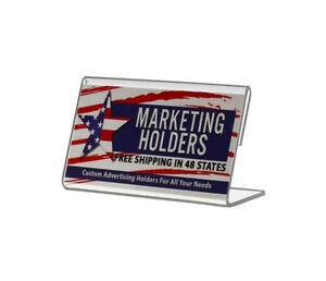 35w X 2h Slant Back Table Tent Business Card Small Signage Holder