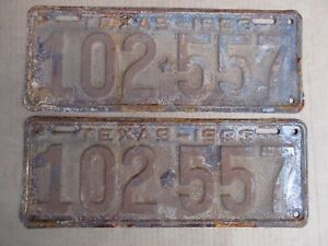 1933-TEXAS-LICENSE-PLATES-PLATE-ORIGINAL-FORD-CHEVY-GMC-33-HOT-RAT-STREET-ROD