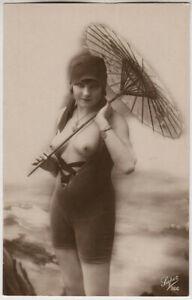 Original-vintage-1920s-nude-in-tight-leotard-marked-SUPER
