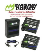 Wasabi Power Battery(1160mAh)x 2 with Dual USB Charger for GoPro HERO4 AHDBT-401