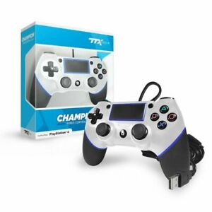TTX Tech PS4 CHAMPION USB Wired Controller for Playstation 4 - White