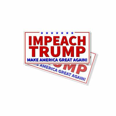 """Impeach Trump Bumper Sticker Decal 2 Pack D/& Anti No Trump Ovals NO /""""T/"""""""