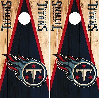 Tennessee Titans Cornhole Board Wraps Skins Vinyl Laminated HIGH QUALITY!