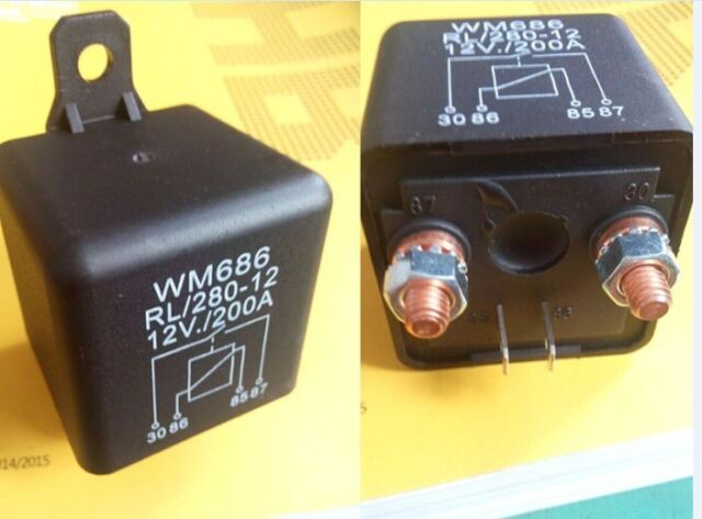 New Universal 12V 200A Car Relay 4 pin Split Charge Relay FREESHIPPING