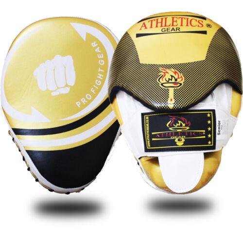 Focus Pads Hook /& Jab Mitts Kick Boxing MMA Strike Punch Bag Kick Curved