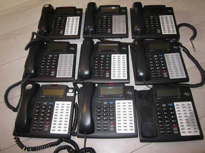 Lot of 5 ESI 48 Key H DFP Charcoal Digital Display Speakerphone