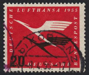 01856 Germany Scott # C64 airmail 1955 Lufthansa used