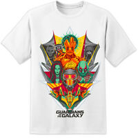 Marvel Guardians Of The Galaxy Collage T Shirt  (S-3XL) Iron Man Captain America