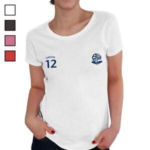 Bolton Wanderers F.c - Personnalisé Femmes T-shirt (sports)-afficher Le Titre D'origine Par Processus Scientifique