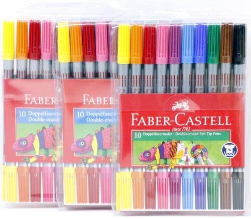 10er//20//30//40//50 Etui Doppelfasermaler Faber-Castell 151110