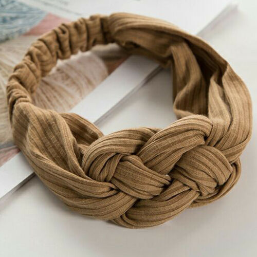 Damen Haarband Haarschmuck Stirnband Haarreif knoten Yoga Schweißband Elastisch