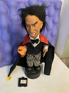 "Telco Motionettes Halloween Dracula Light Up Sound 17"" Vtg Lights Sounds Figure"