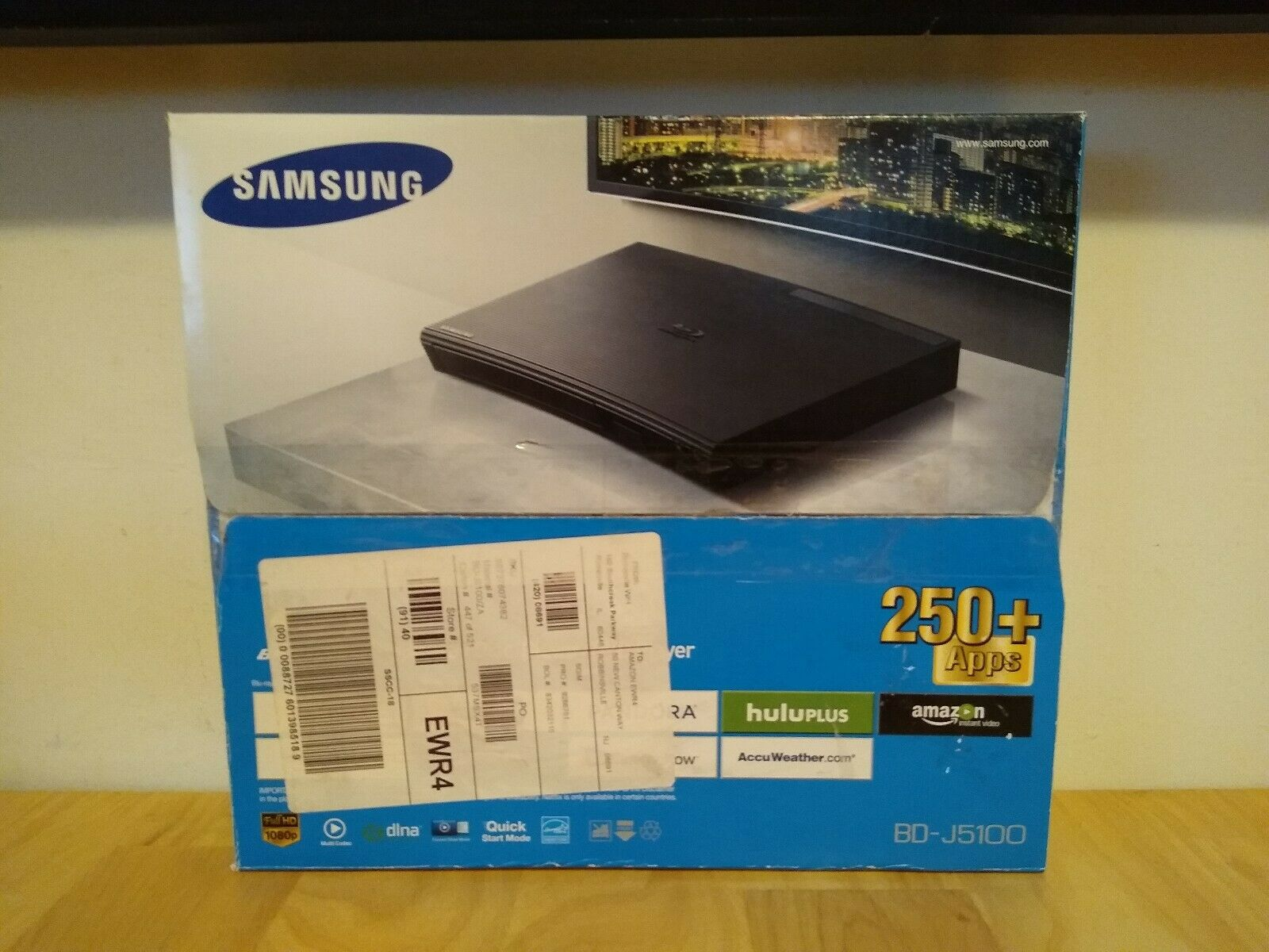 Samsung BD-J5100 Blu-ray Disc Player/DVD Player Streaming Device Brand New brand device disc new player samsung streaming