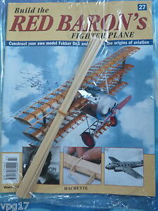BUILD THE RED BARON/'S FIGHTER PLANE FOKKER DR1  HACHETTE  ISSUE 66  NEW SEALED