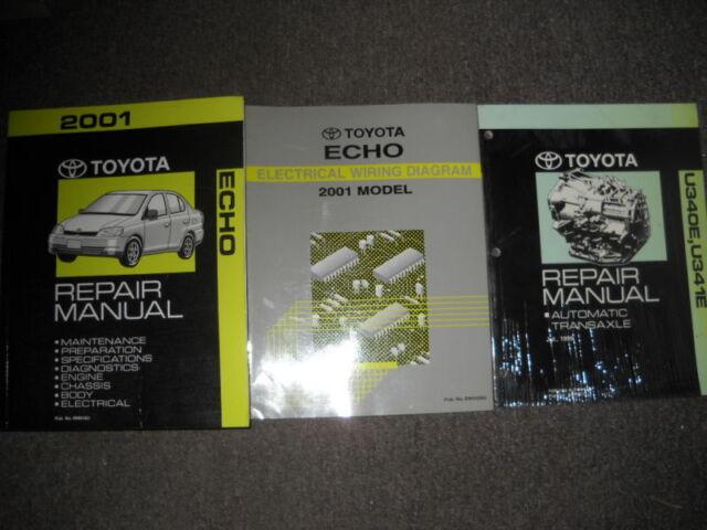 2001 Toyota Echo Service Repair Shop Manual Set W Wiring