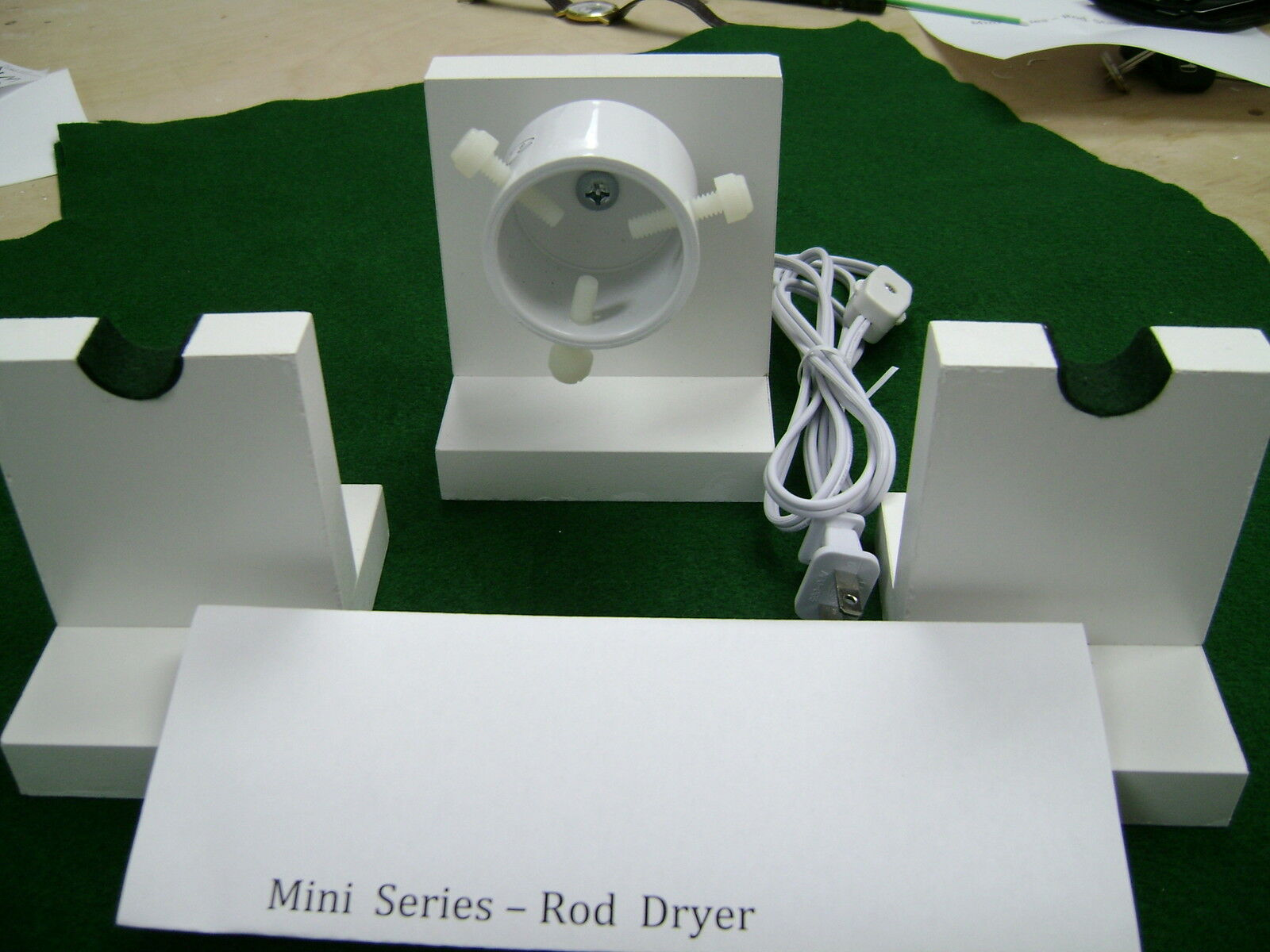 Mini Series ---   15-17  RPM-ROD DRYING-DRYER  MOTOR  KIT --  with 2 rod stands  cheap and top quality